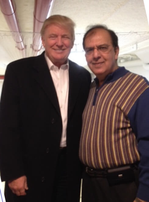 Deepak Gulati, President of Indian Egg Donors with President Donald Trump